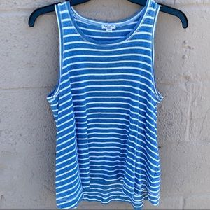 Splendid Blue Striped Basic Tank